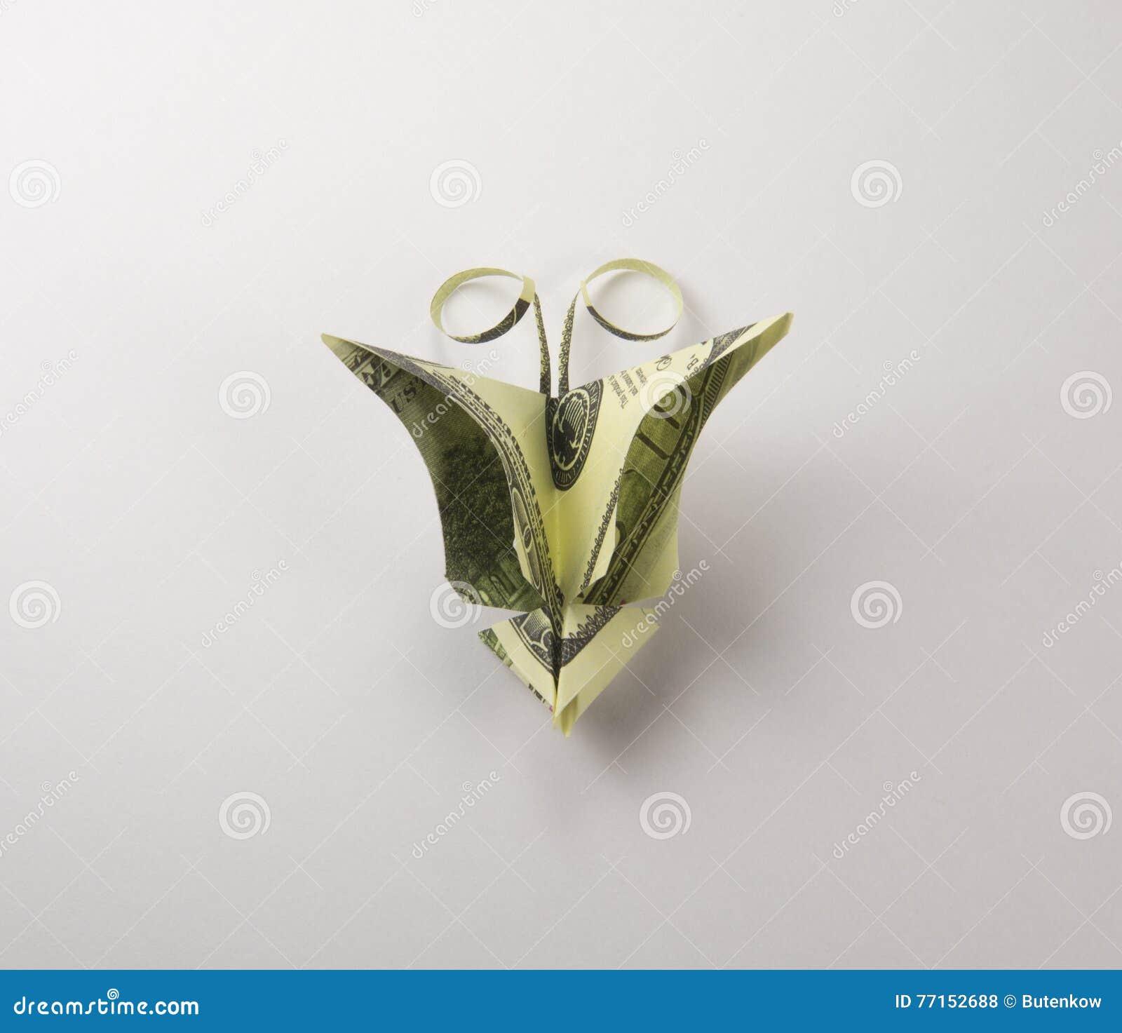 Dollars sous forme de papillons