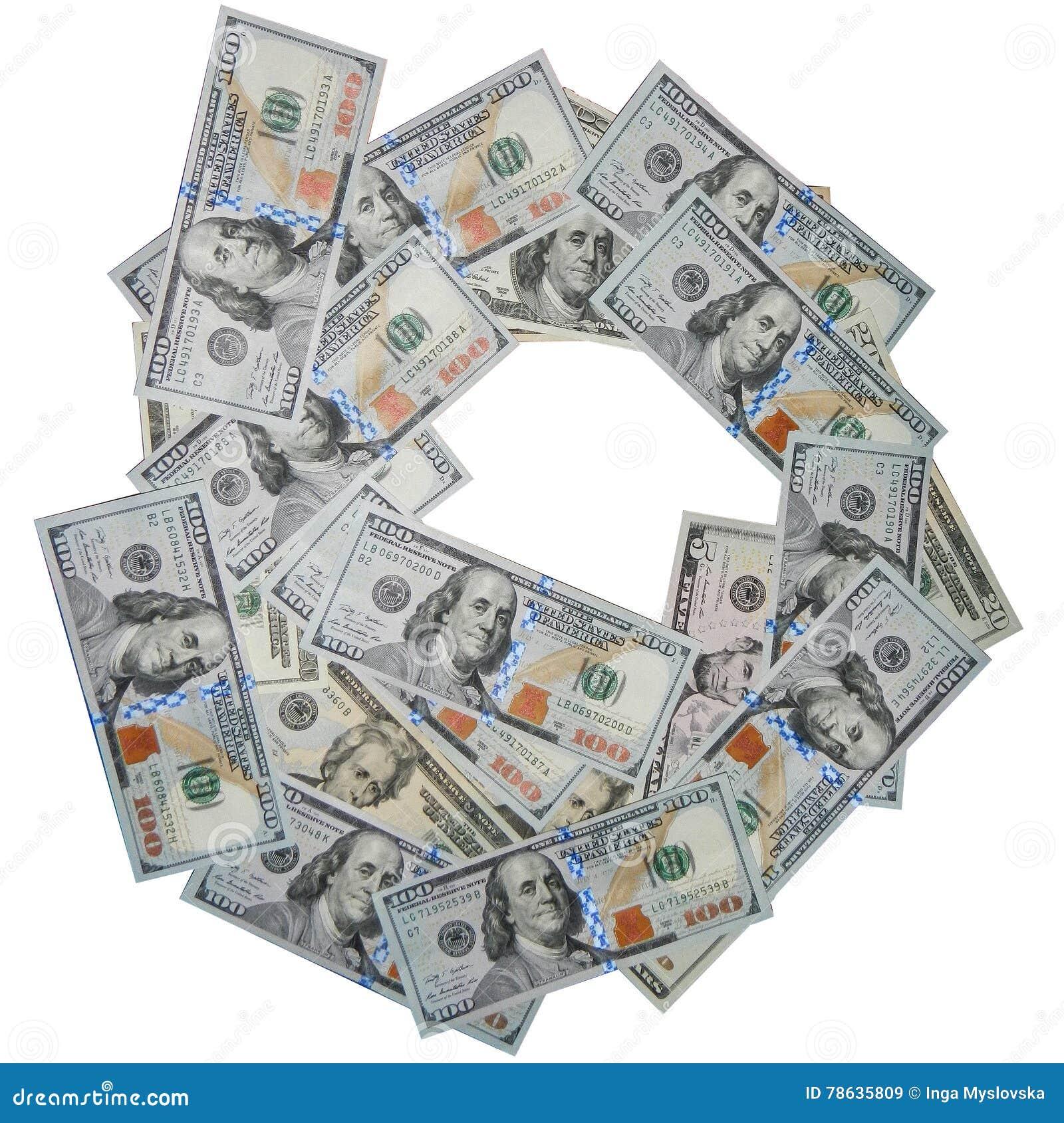 Dollars US de la pile 100, d isolement