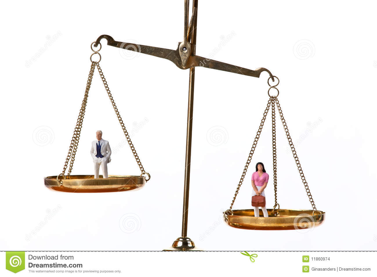 Dolls On Balancing Scales Stock Images - Image: 11860974