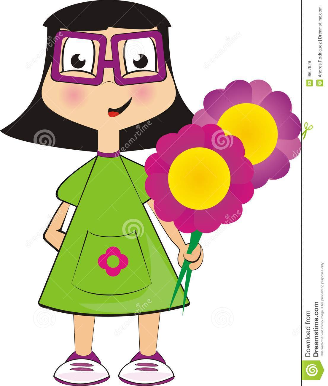 Dolls Cartoon Stock Vector Illustration Of Glesses Woman