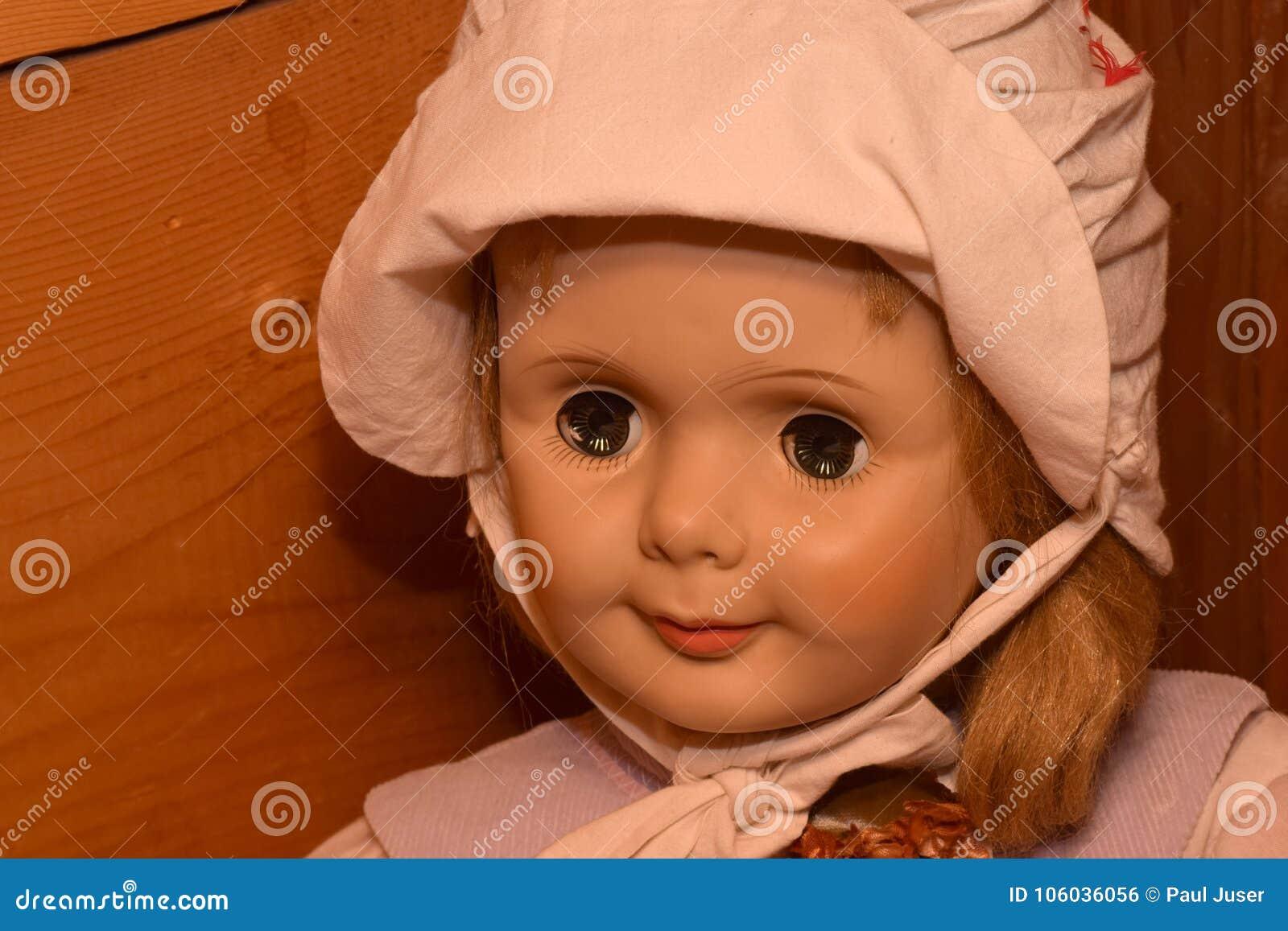 dolls with creepy eyes stock photo. image of spooky - 106036056
