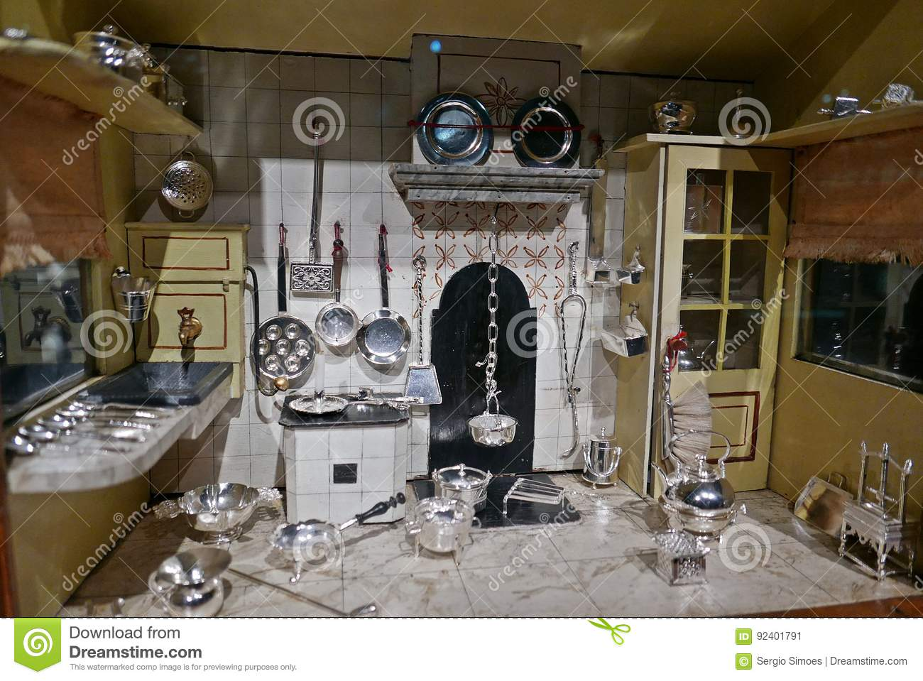 Dolls house kitchen editorial photo  Image of miniatures