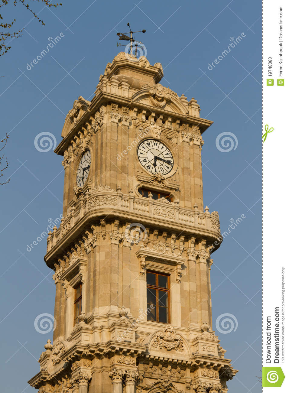 Dolmabahce Clock Tower Stock Photos - Image: 19748383