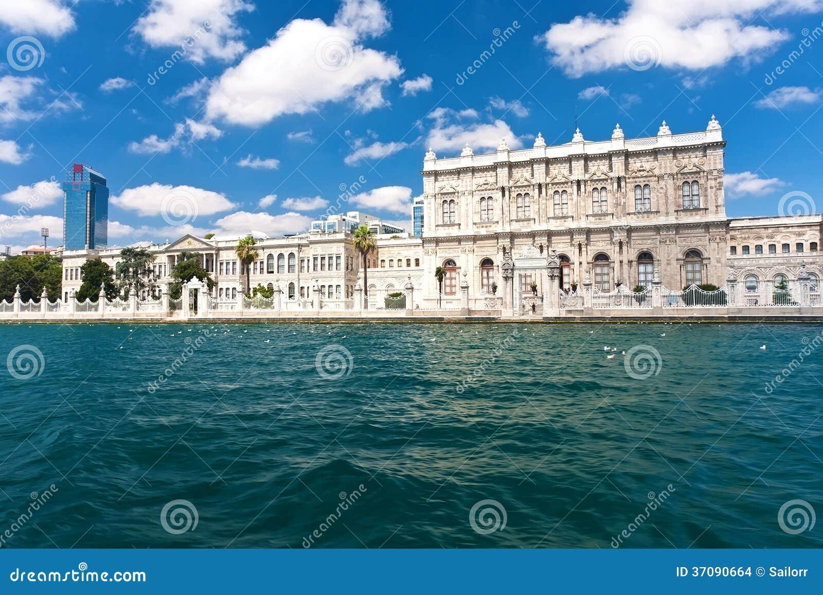 Download Dolmabahce pałac zdjęcie stock. Obraz złożonej z sławny - 37090664