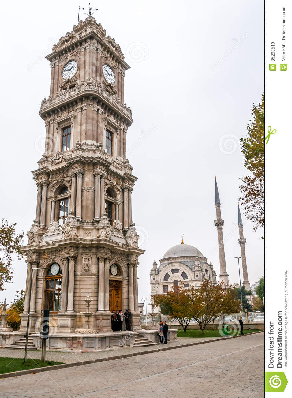 Dolmabahce Palace Clock Tower Editorial Stock Image ...