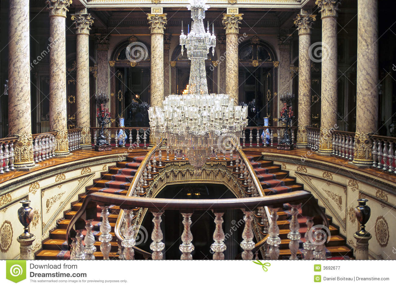 Dolmabahce Stairs Royalty Free Stock Photography Image