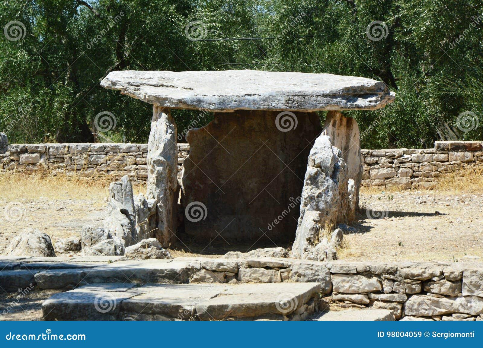 Dolmen della Chianca in Bisceglie-Stadt, Apulien, Italien