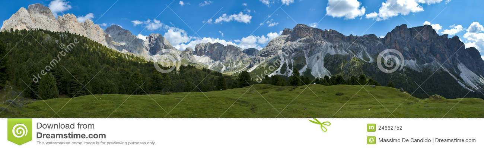 Dolomías, Odle y Stevia del montaje - Italia