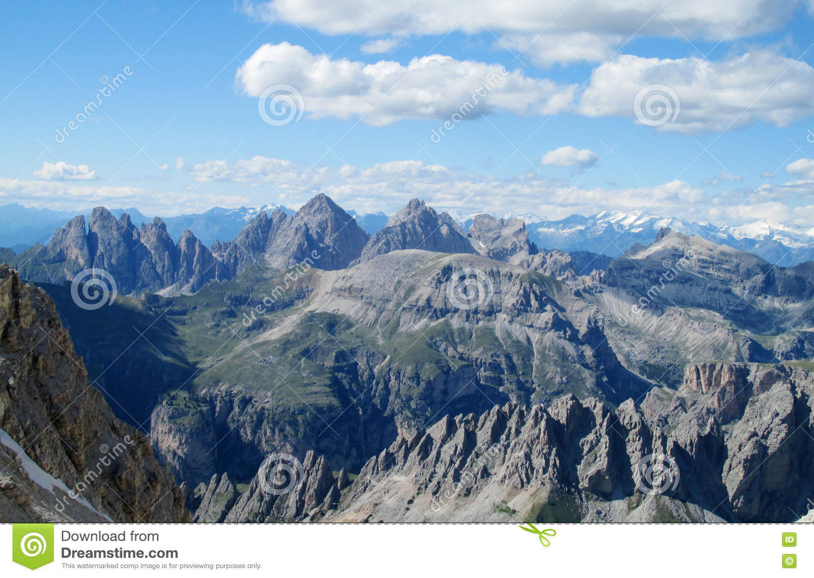 Dolomite Alps mountain rocky scenery