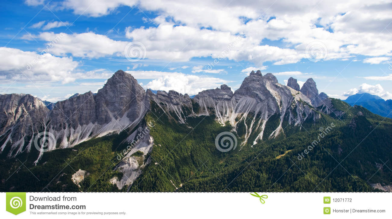Dolomite Mountain Ridge