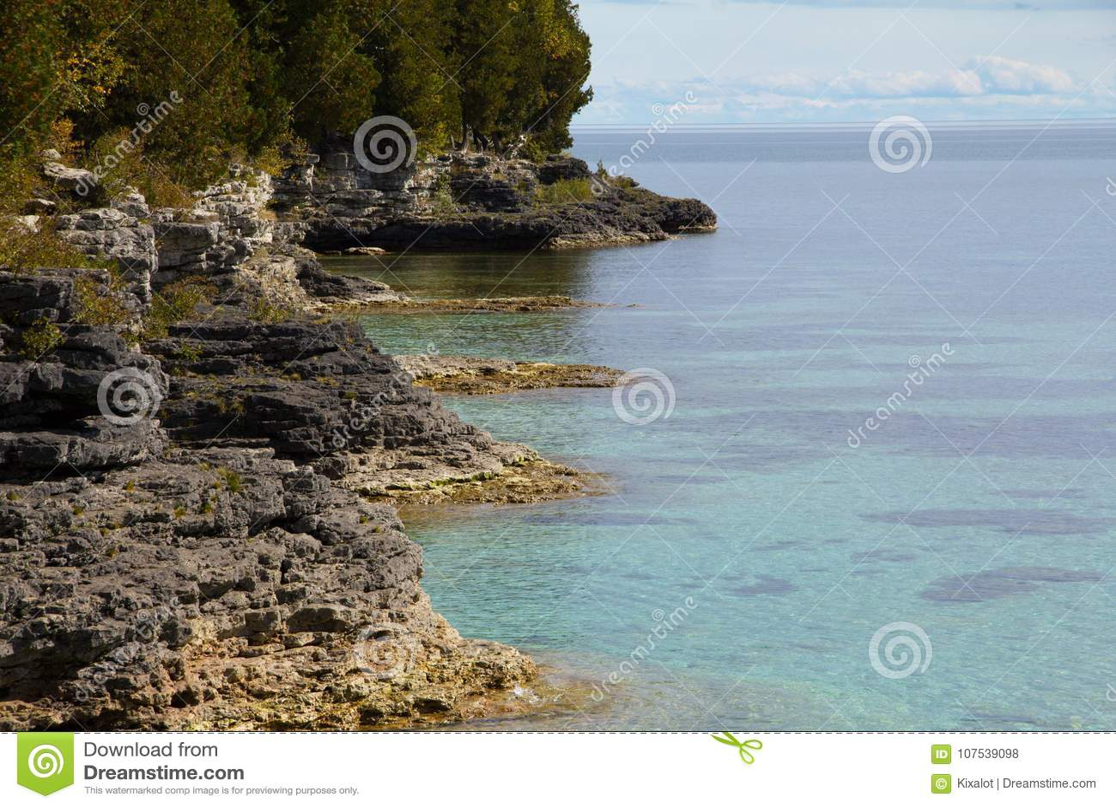Dolomite Shoreline of Cave Point Park, Door County