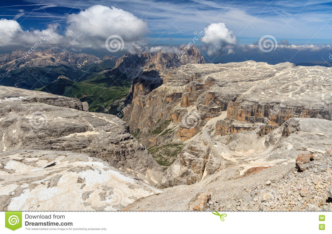Dolomiti - view from Piz Boe