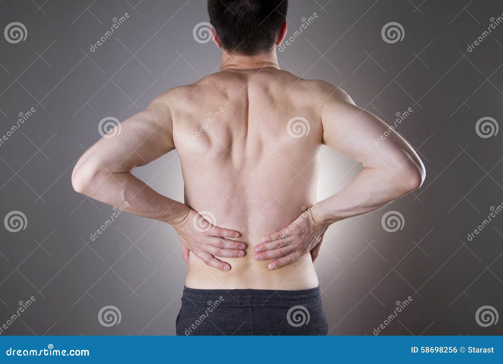 Dolor Del Riñón Hombre Con Dolor De Espalda Dolor En El Cuerpo Del ...