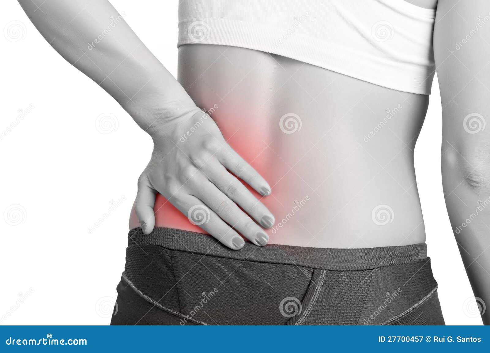 Dolore alla schiena immagine stock. Immagine di workout..