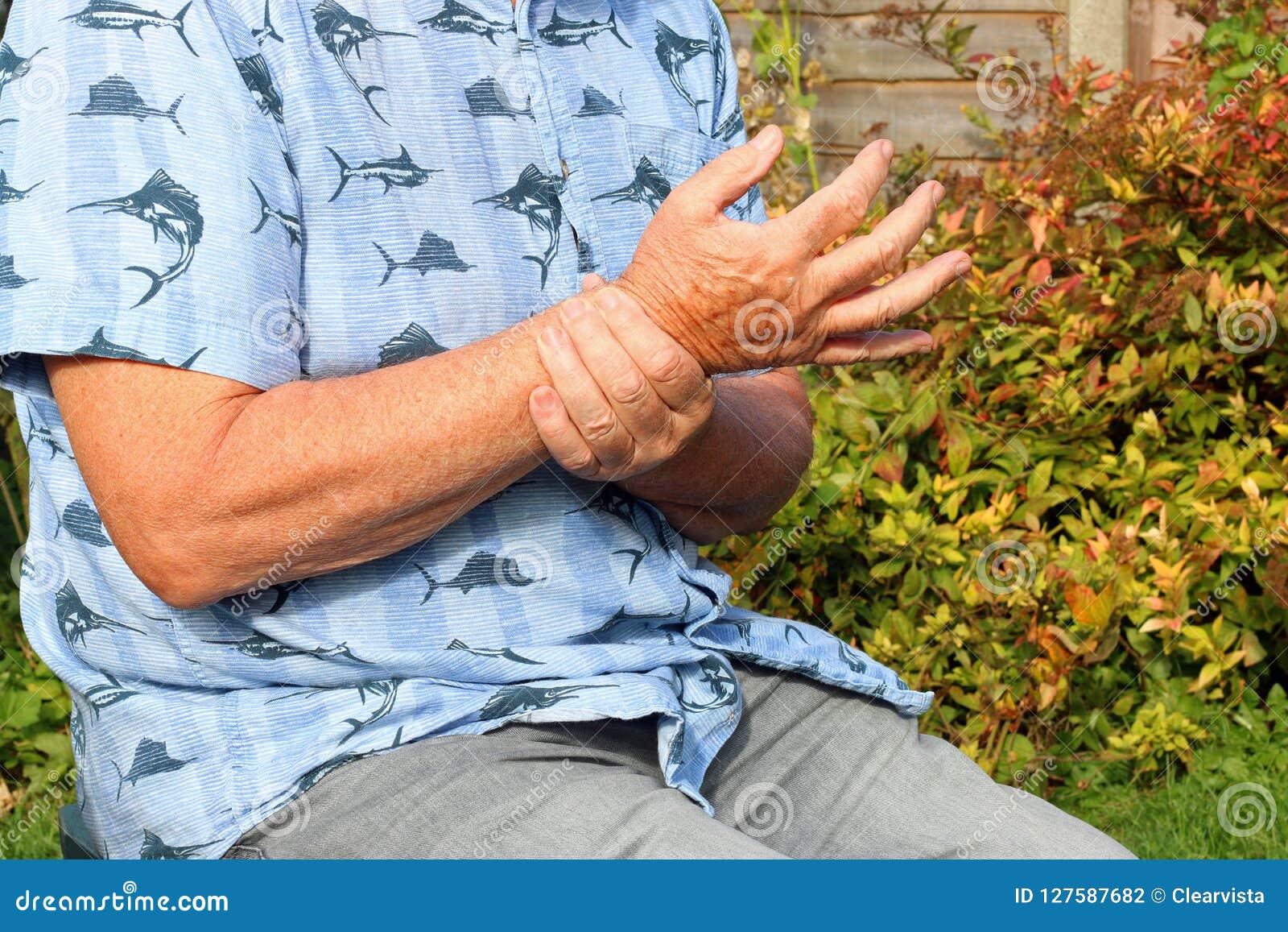 Dolore del polso artrite Anziano nel dolore