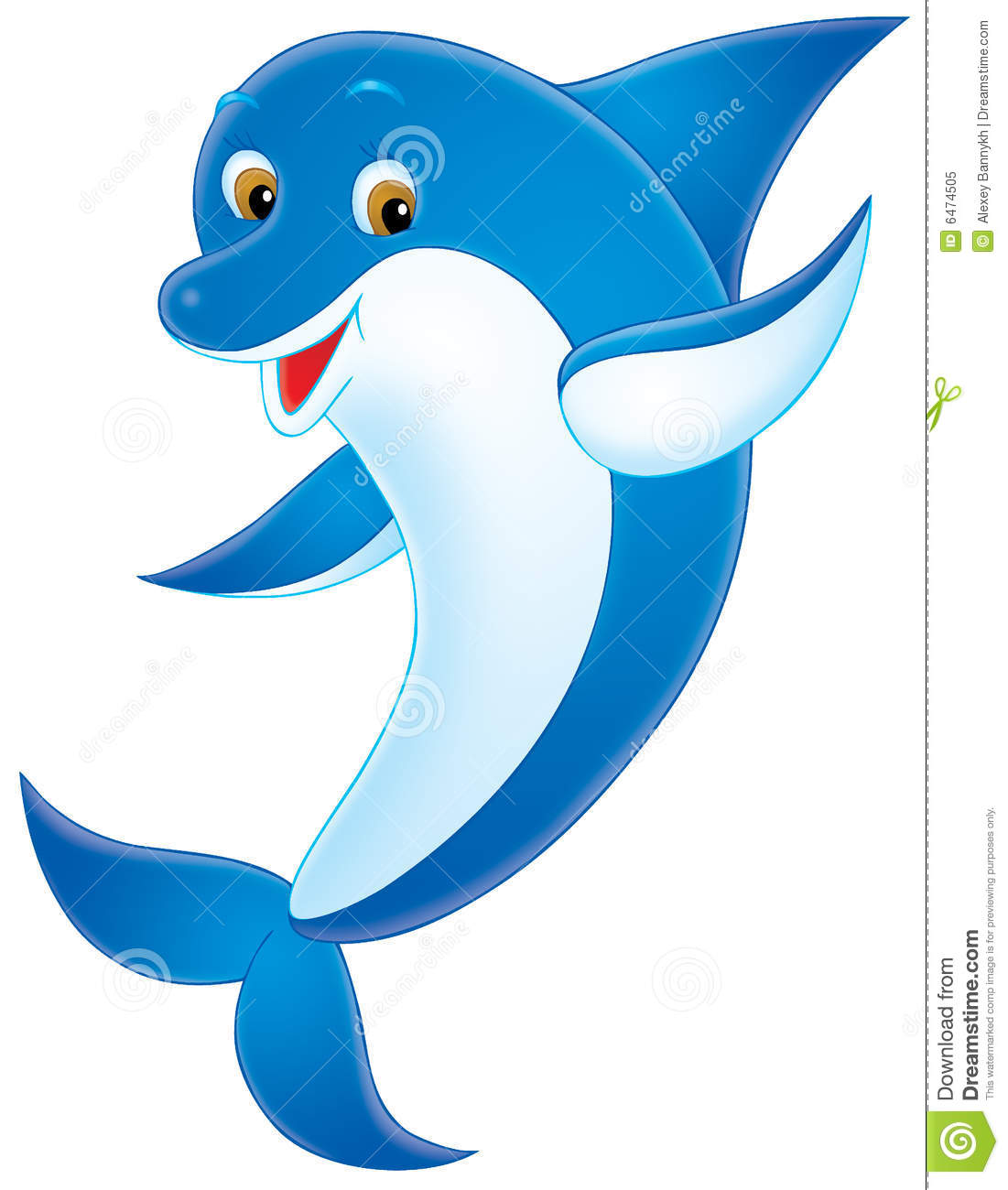 dolphin stock illustration illustration of funny cartoon 6474505 rh dreamstime com dolphin clipart black and white dolphin clip art free download
