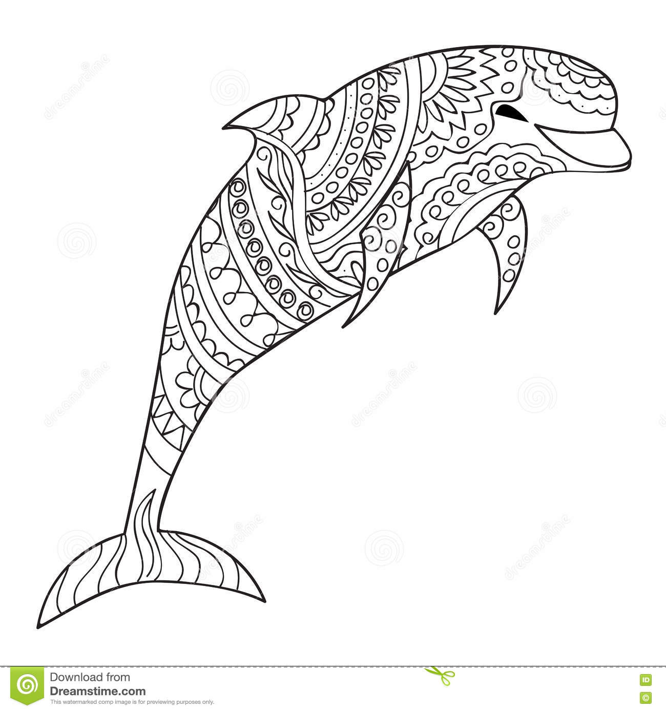 Abstract Dolphin Coloring Pages : Dolphin stock vector image