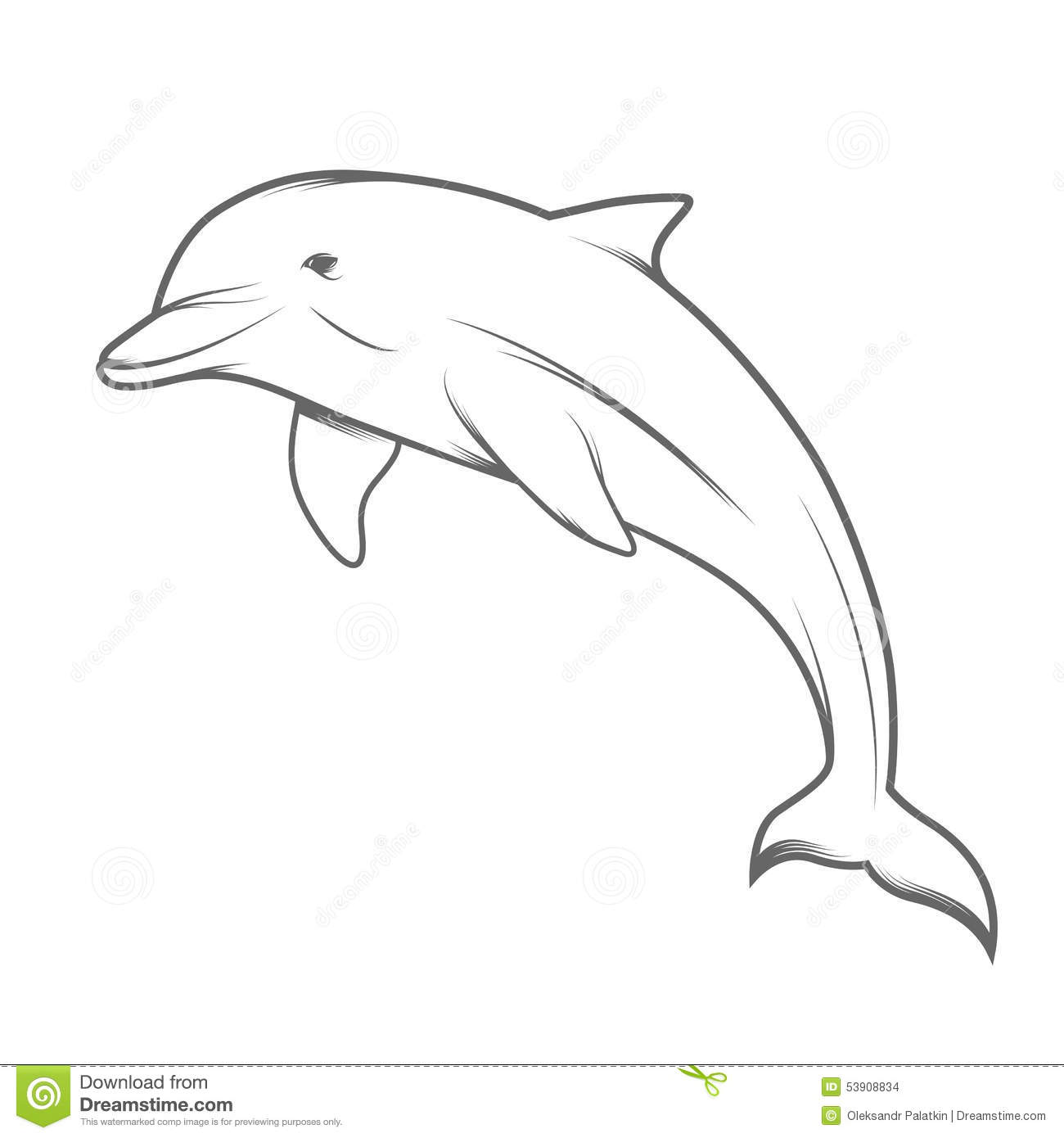 Line Art Dolphin : Dolphin illustration stock vector of mammals