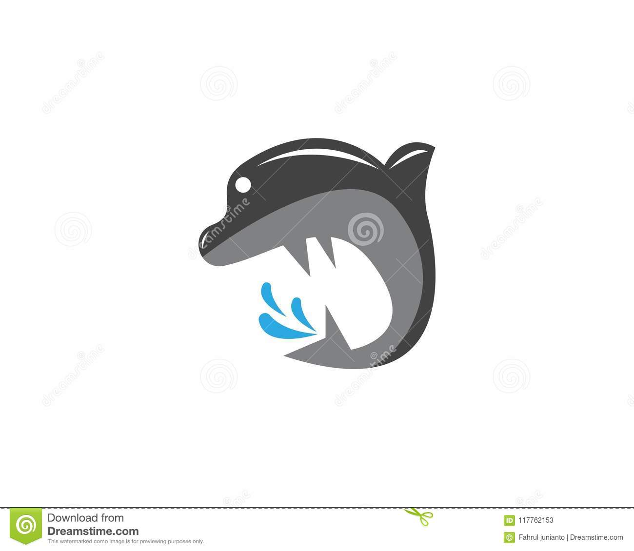 Dolphin Logo Vector Template Stock Vector - Illustration of style ...