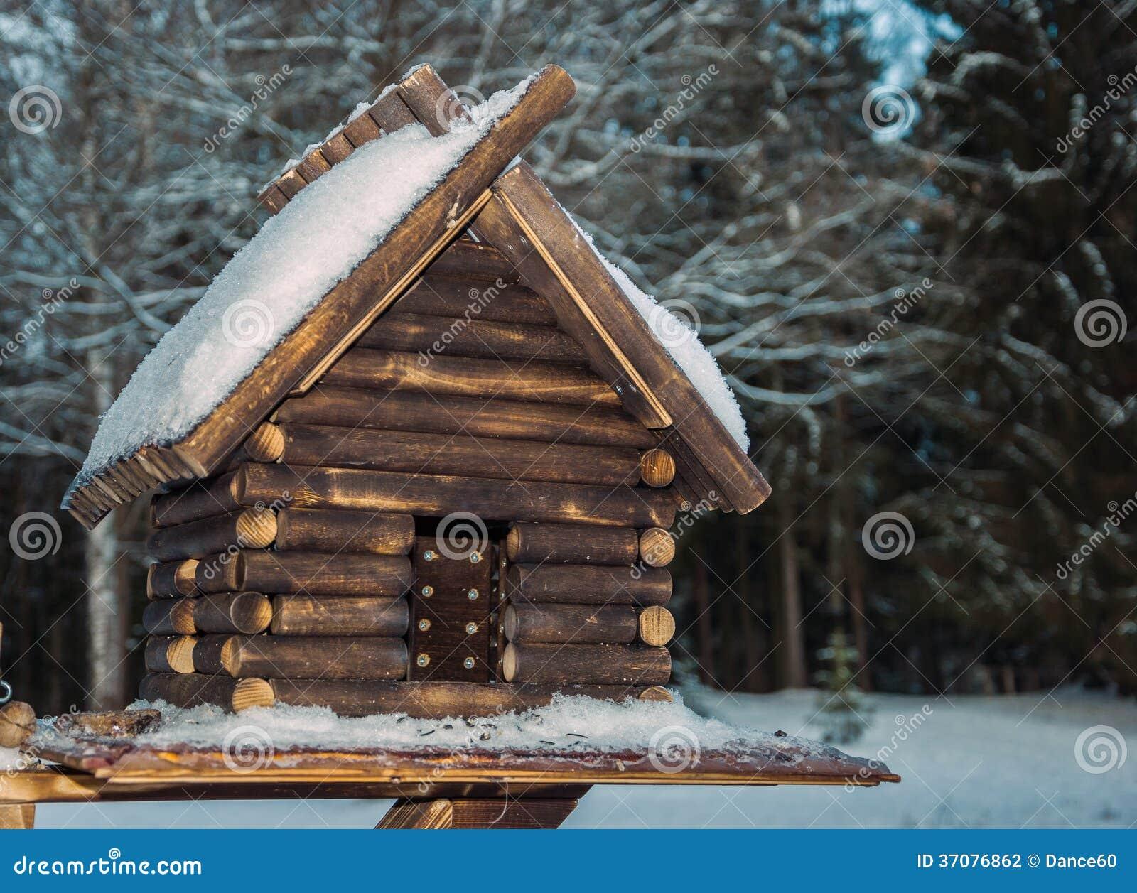 Download Dom dla ptaków zdjęcie stock. Obraz złożonej z zima, śnieg - 37076862