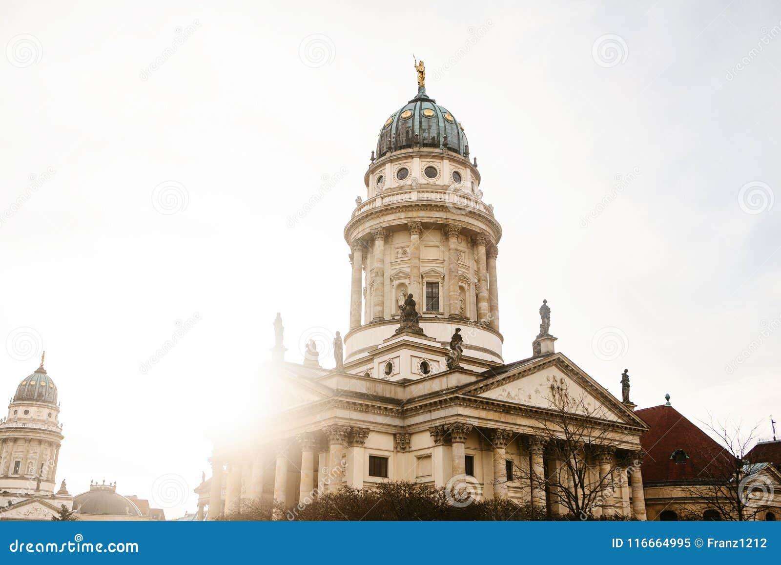 DOM francesi di Franzoesischer o della cattedrale a Berlino, Germania Evangelico e chiesa luterana della Germania e dell architet