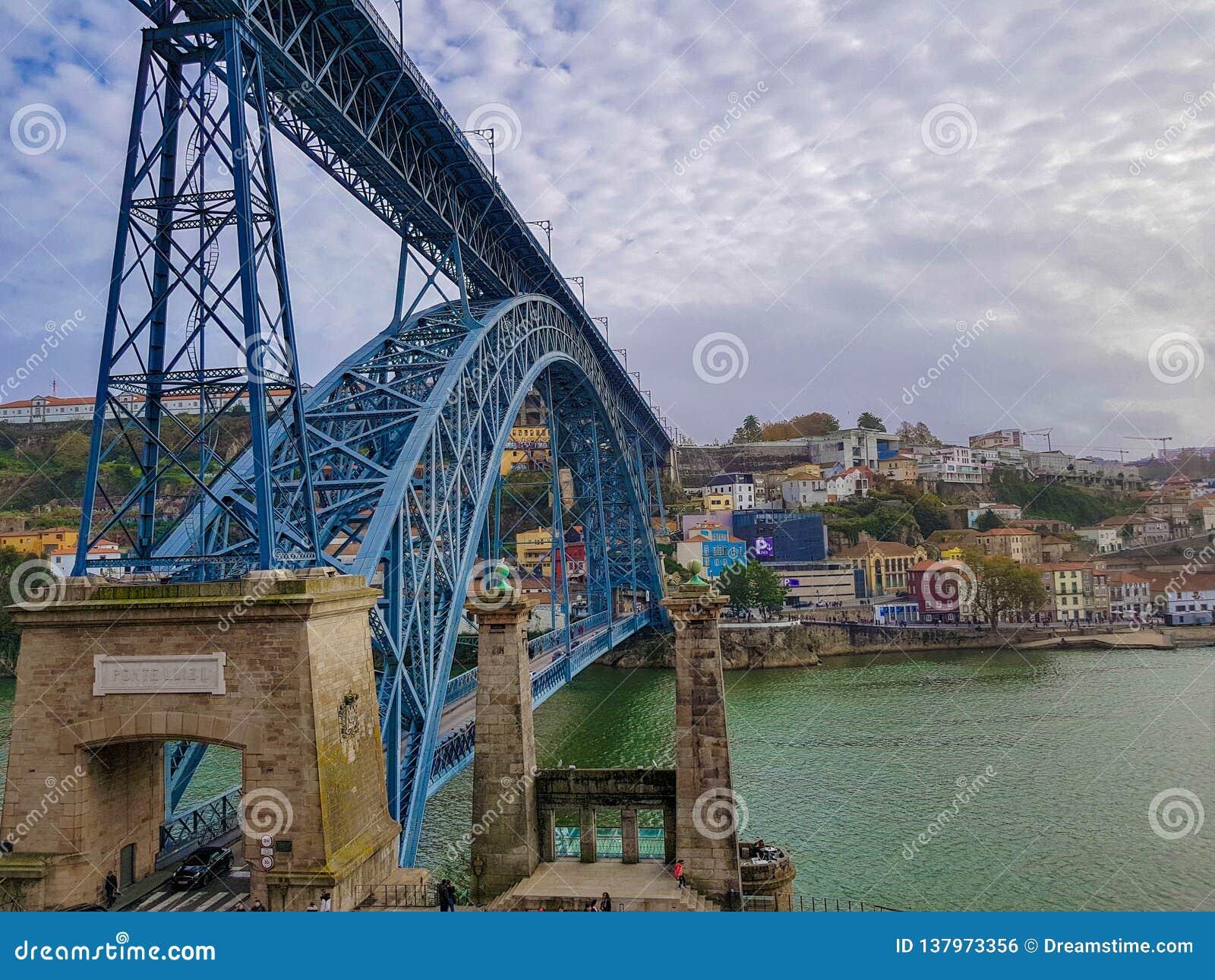 Dom Luis I Brug Ponte Dom Luis I, Porto, Portugal
