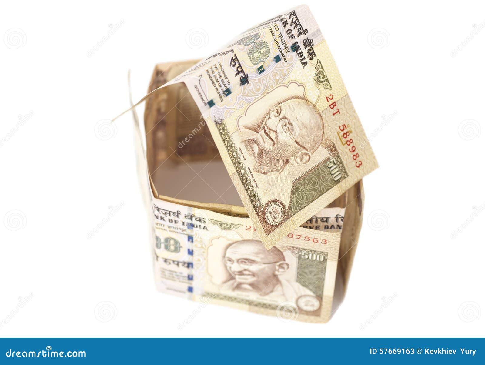 Dom Robić indianin 500 rupii banknoty
