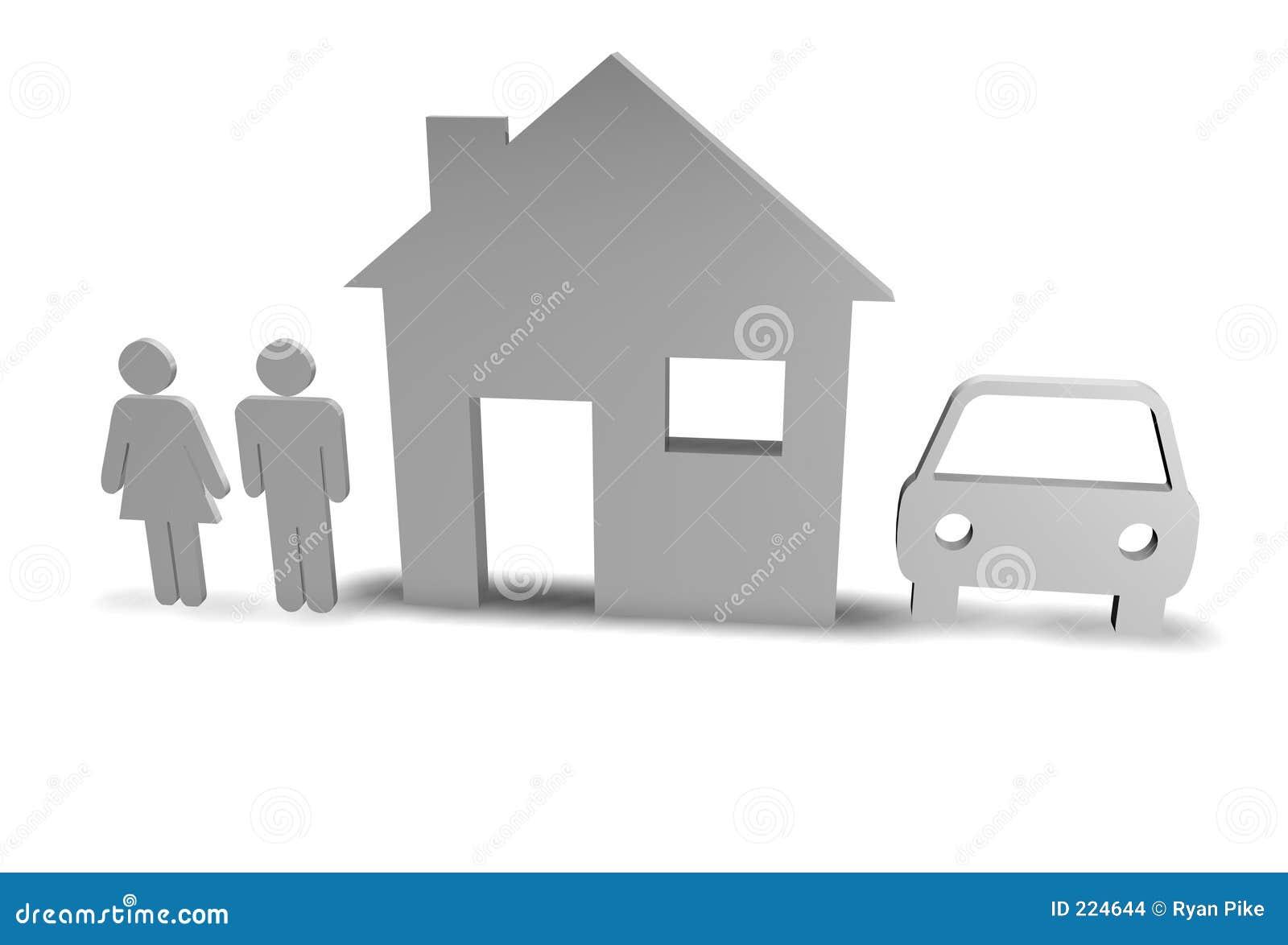 Dom rodziny samochodowy