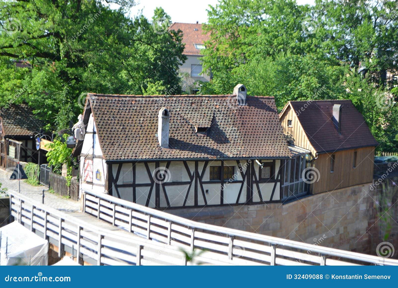 Dom w centrum Nuremberg
