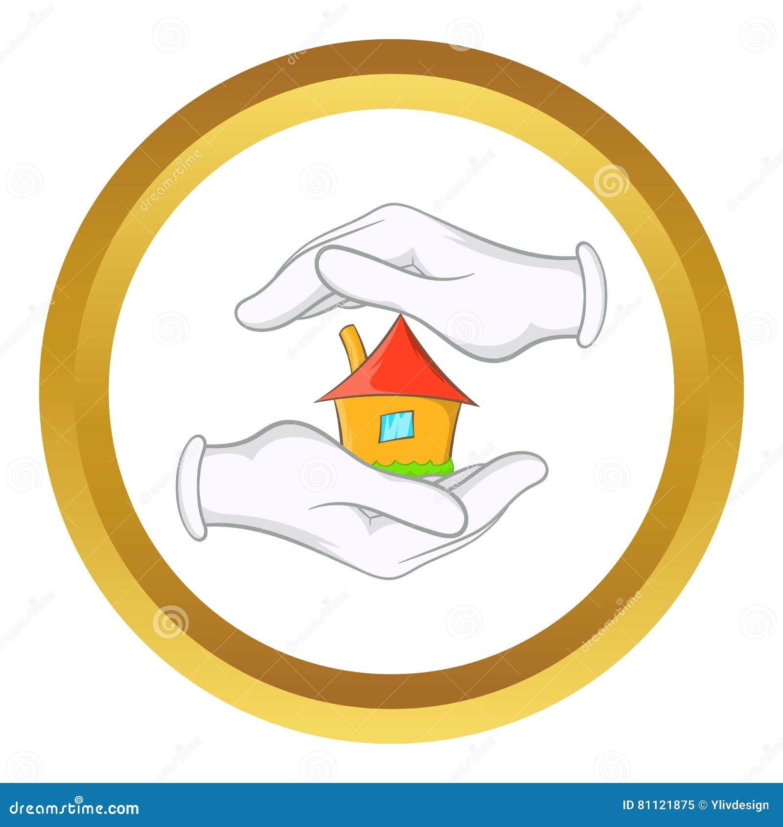Dom w ręka wektoru ikonie