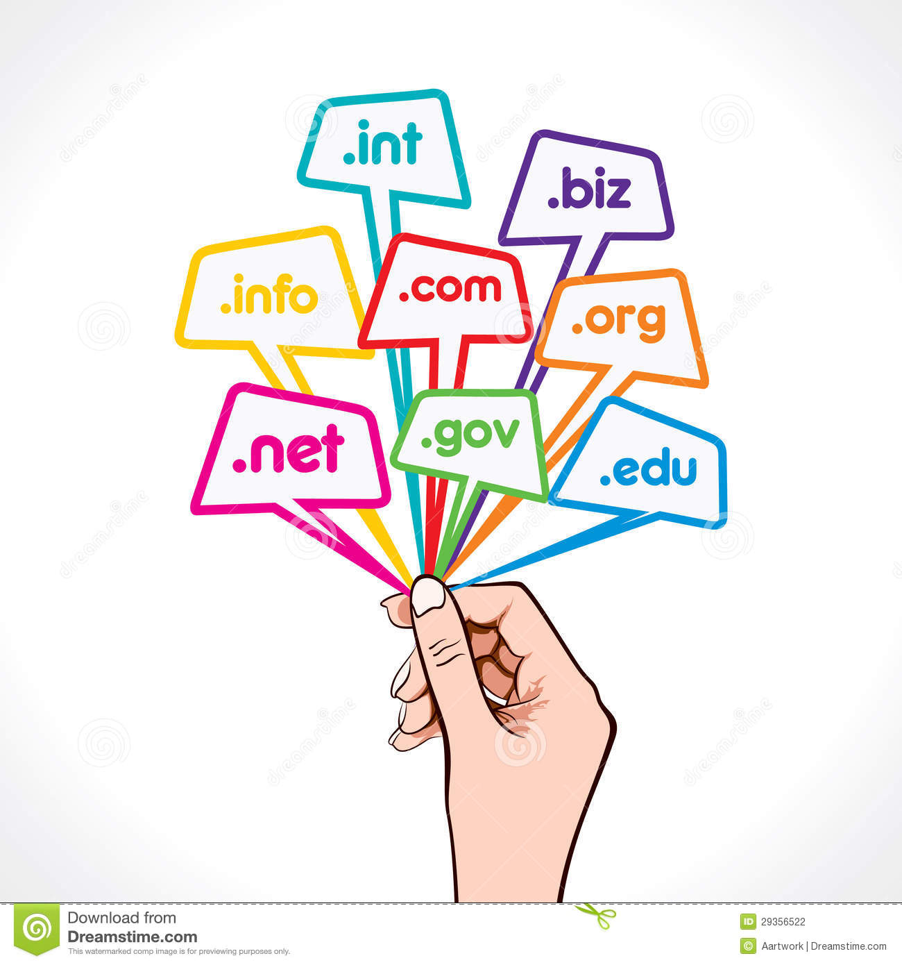 Domain name in hand