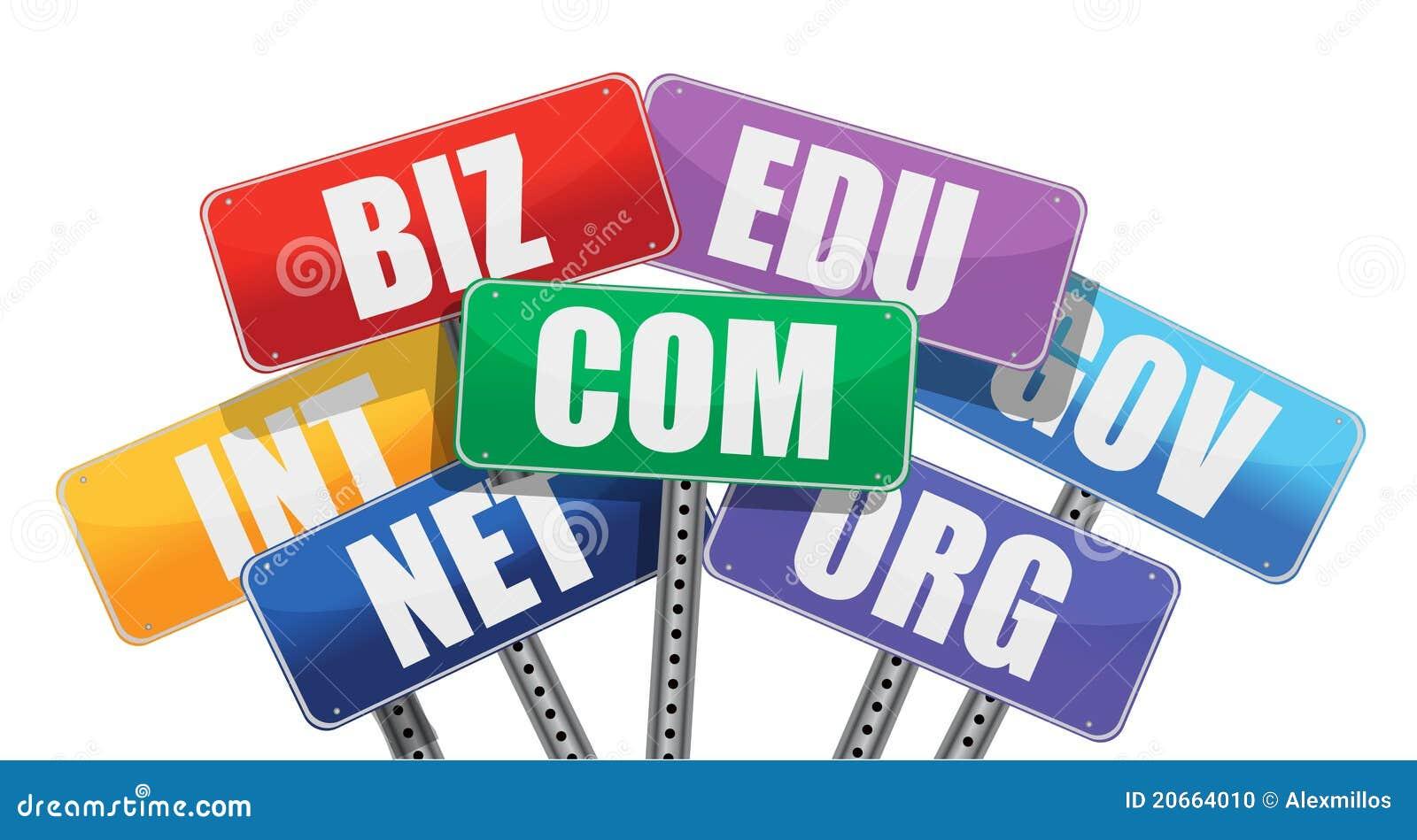 Domain names signs internet