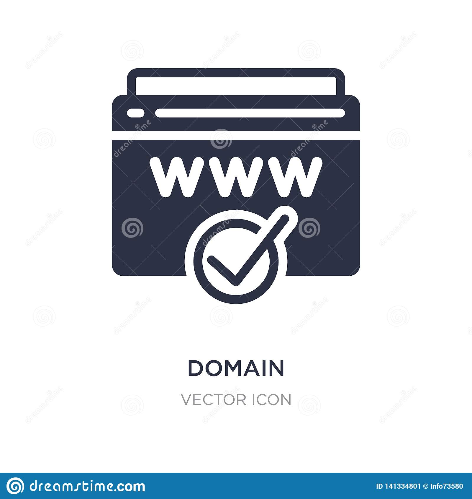 Domain Registration Icon On White Background  Simple Element