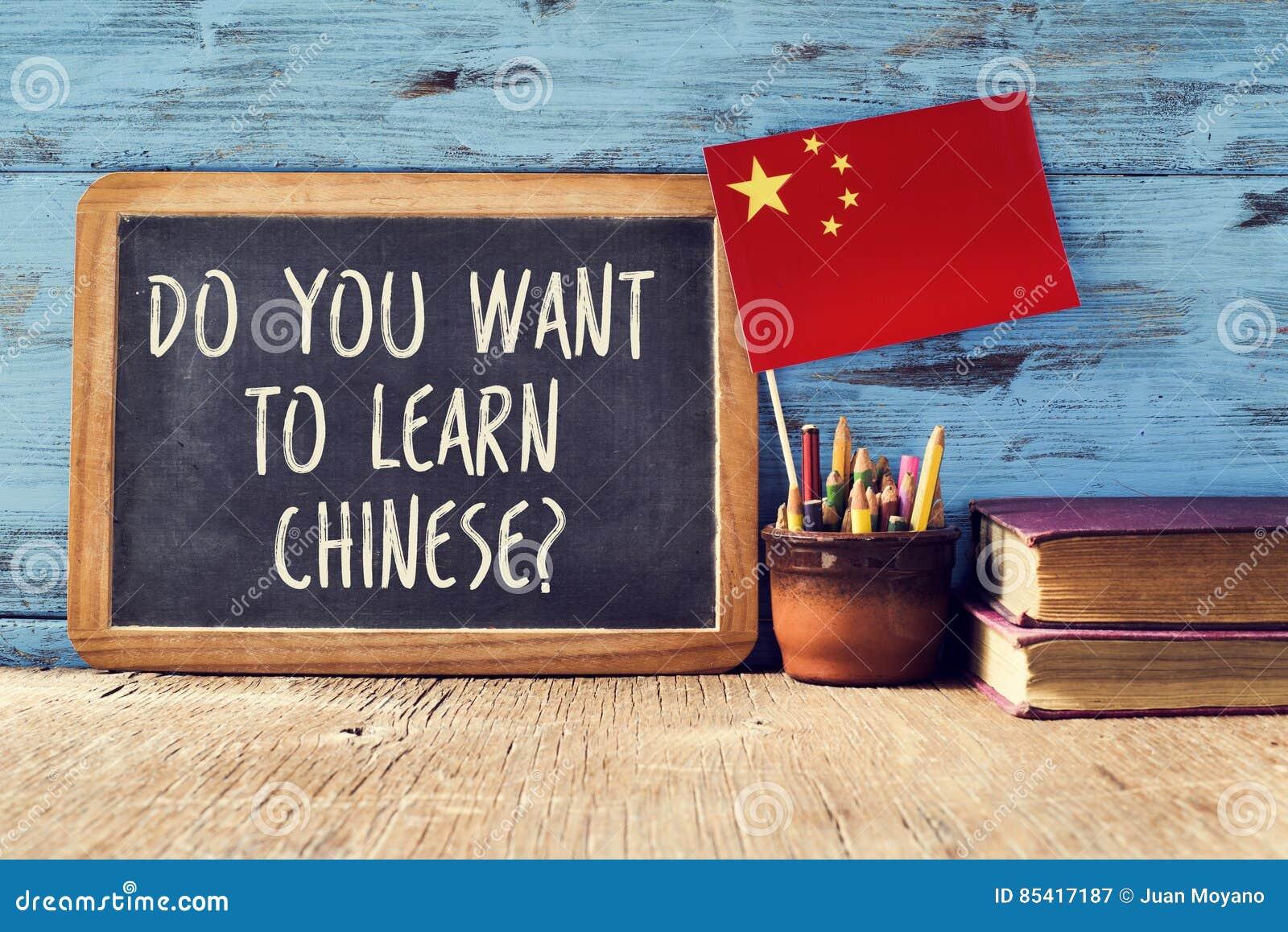 Domanda volete imparare il cinese?
