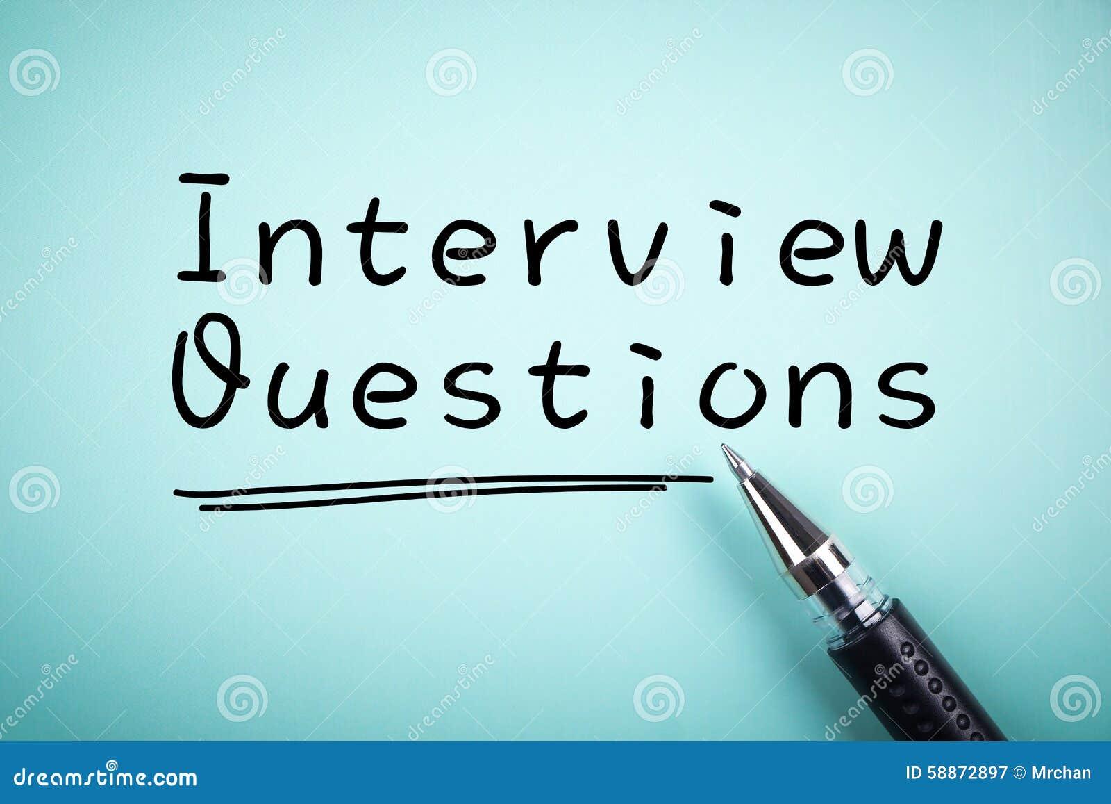 domande di intervista fotografia stock immagine 58872897ForIntervista Domande