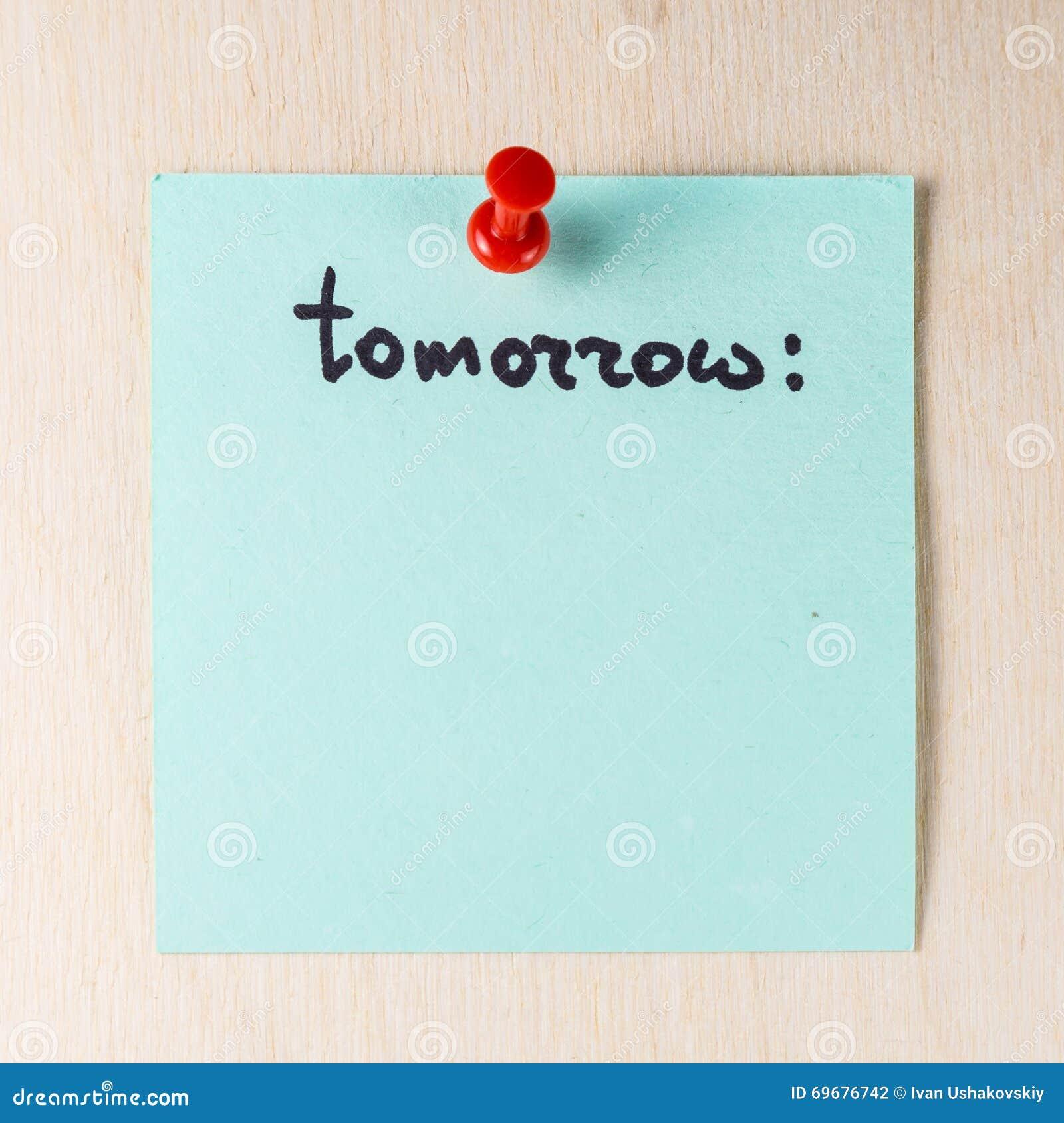 Domani nota sul Post-it di carta