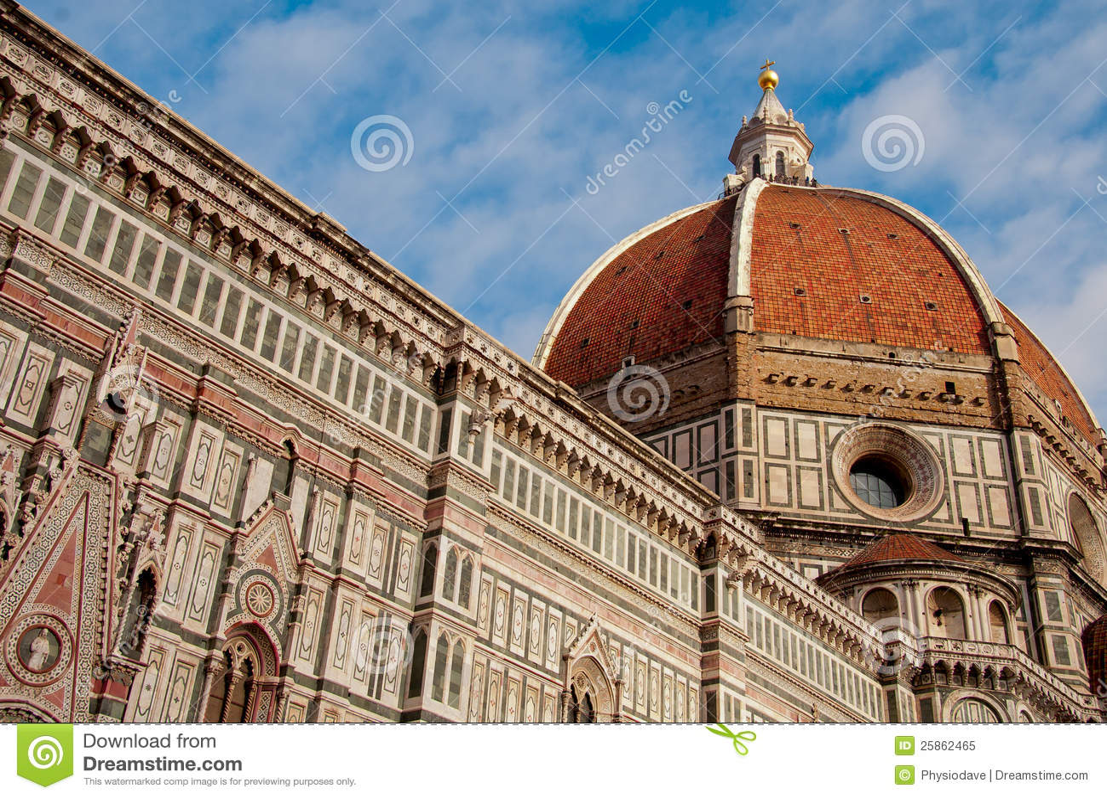 dome of basilica de san lorenzo florence stock image image 25862465. Black Bedroom Furniture Sets. Home Design Ideas