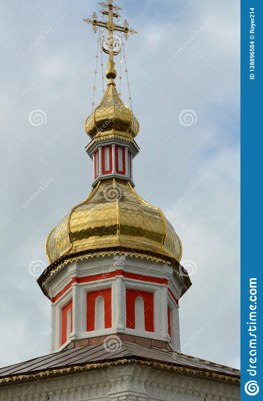 Dome of the Church in Suzdal Town