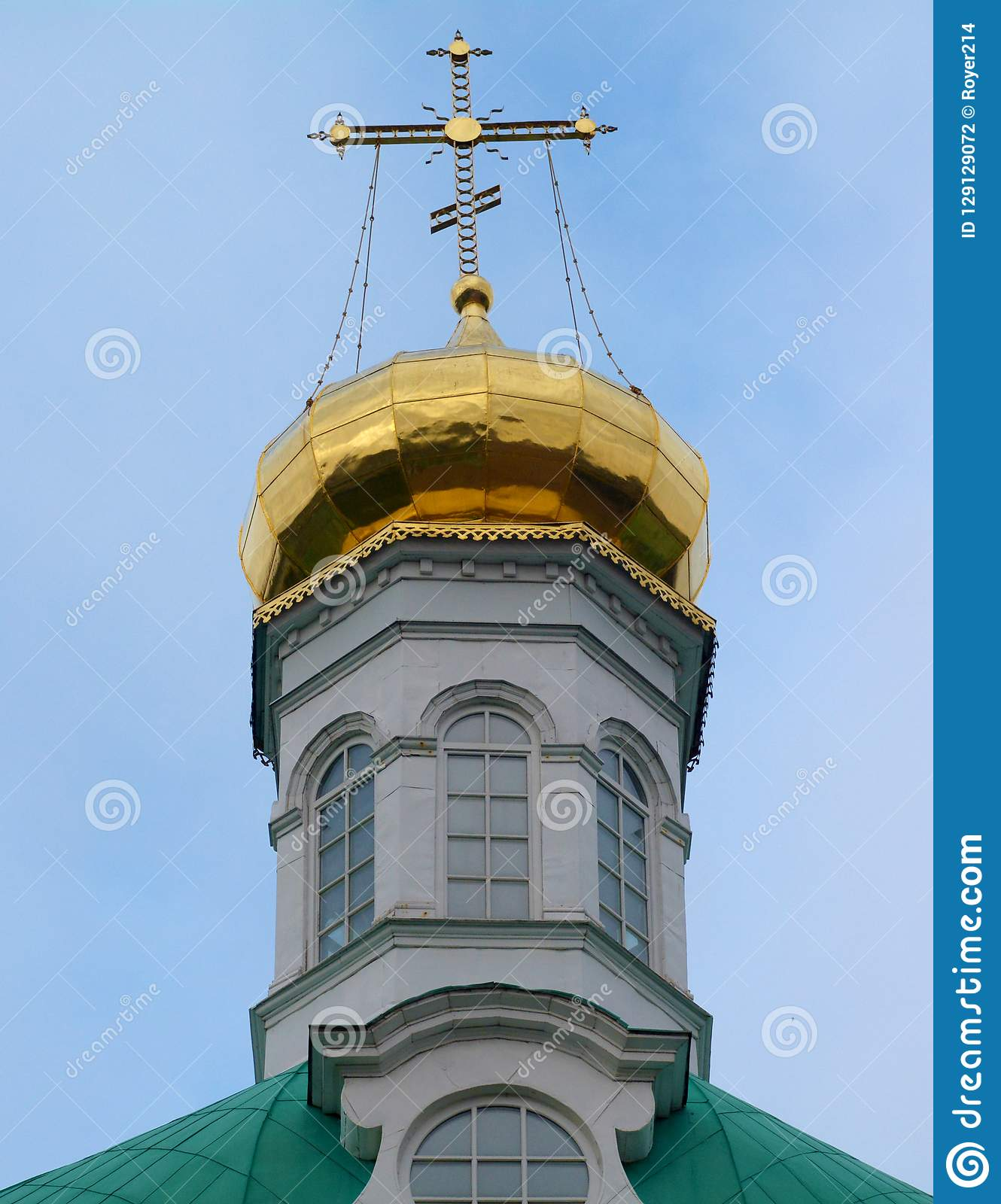 Dome of the Church at Trinity-St. Sergius Lavra in Sergiev