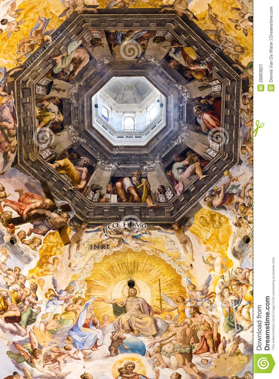 Florence Dome: Dome Of The Florence Cathedral Stock Image