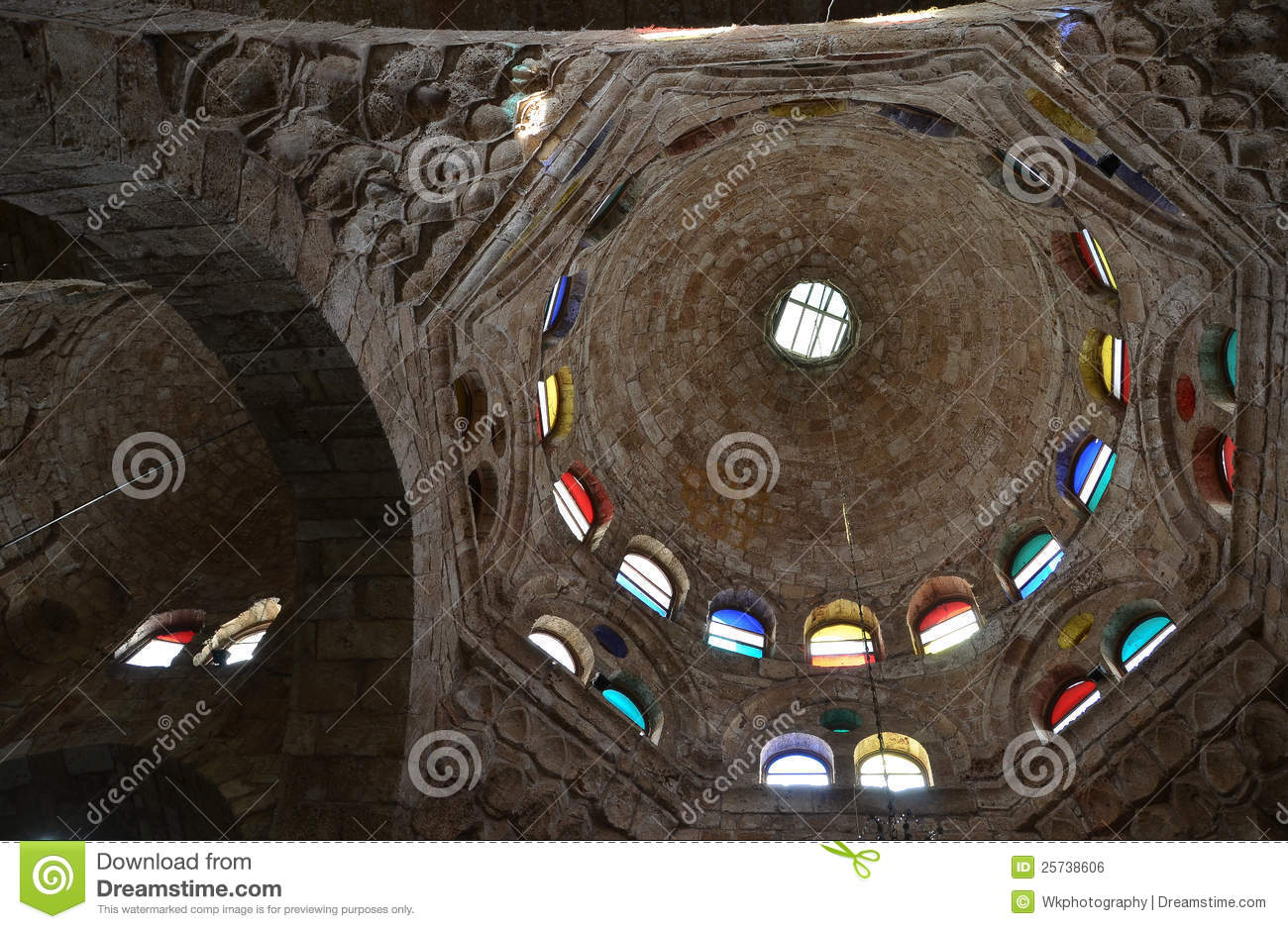 Dome of a mosque inside