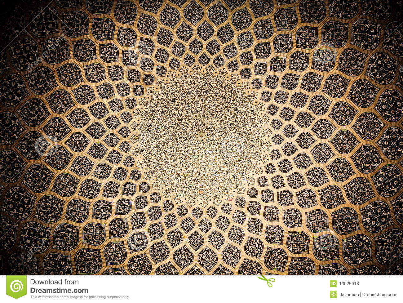 Dome of the mosque,oriental ornaments from Isfahan
