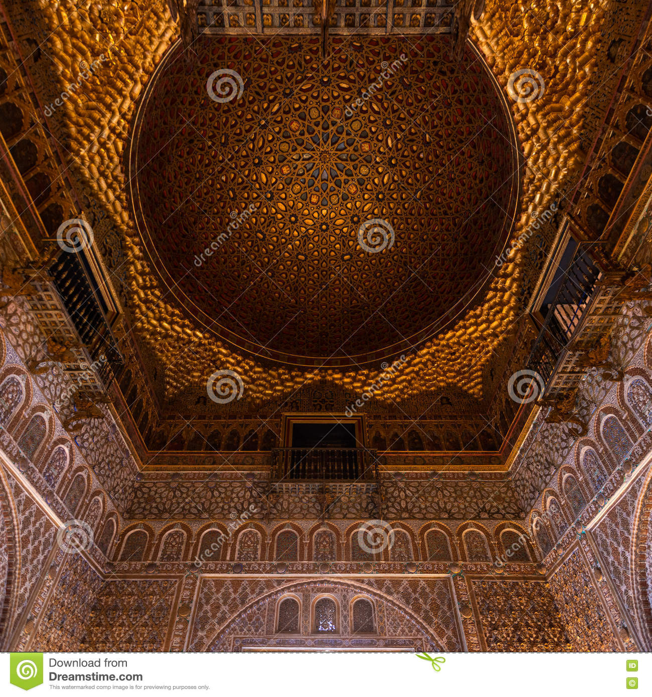 Dome In The Real Alcazar In Seville Stock Photo Image