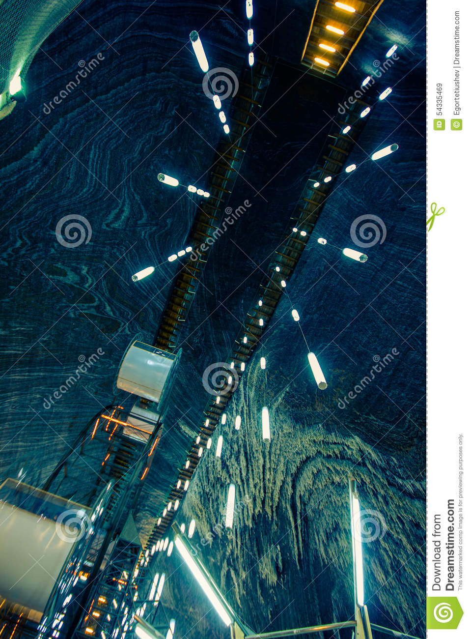 Dome salt mines  stock image  Image of beautiful, mineral