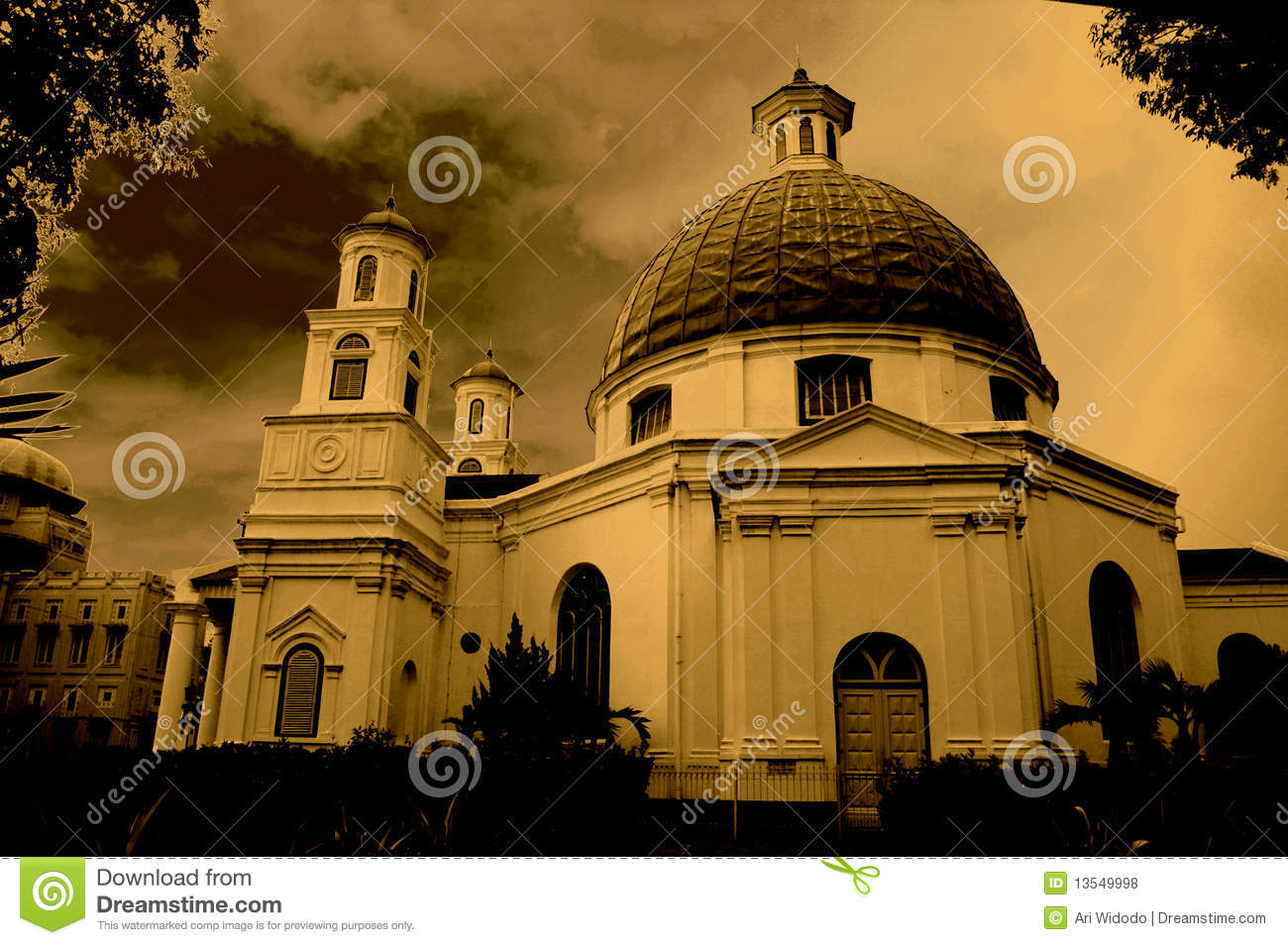 Dome Shaped Roof Church Royalty Free Stock Photos Image