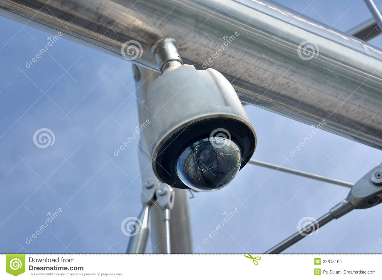Dome Type Cctv Camera Royalty Free Stock Images Image