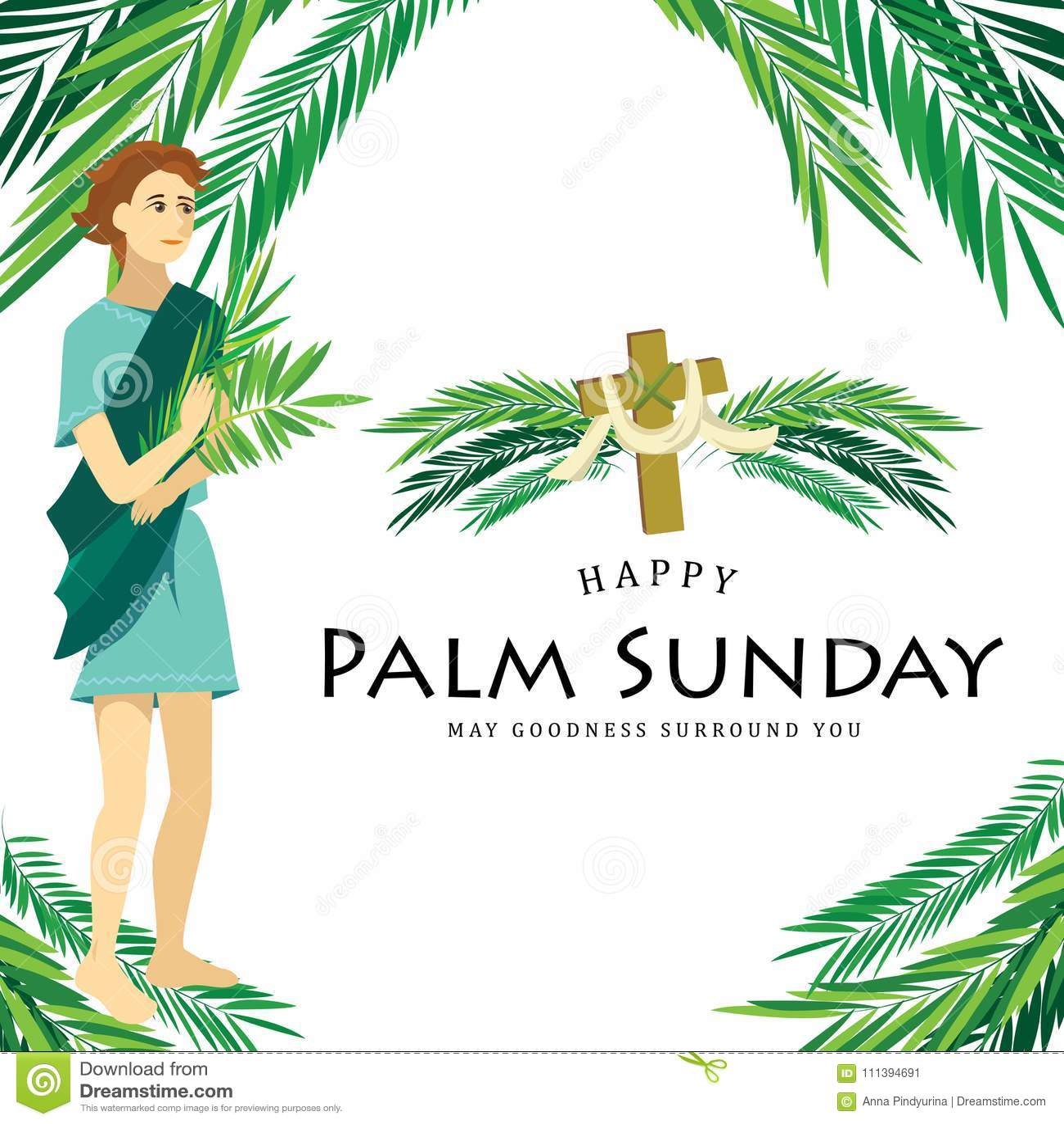 Domenica Delle Palme Di Festa Di Religione Prima Di Pasqua