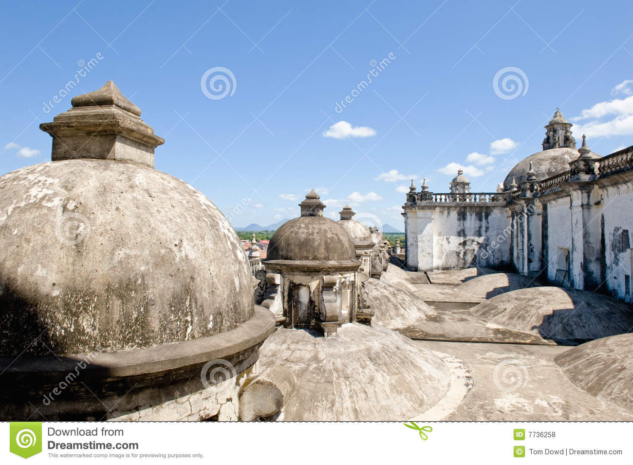Domes on cathedral roof