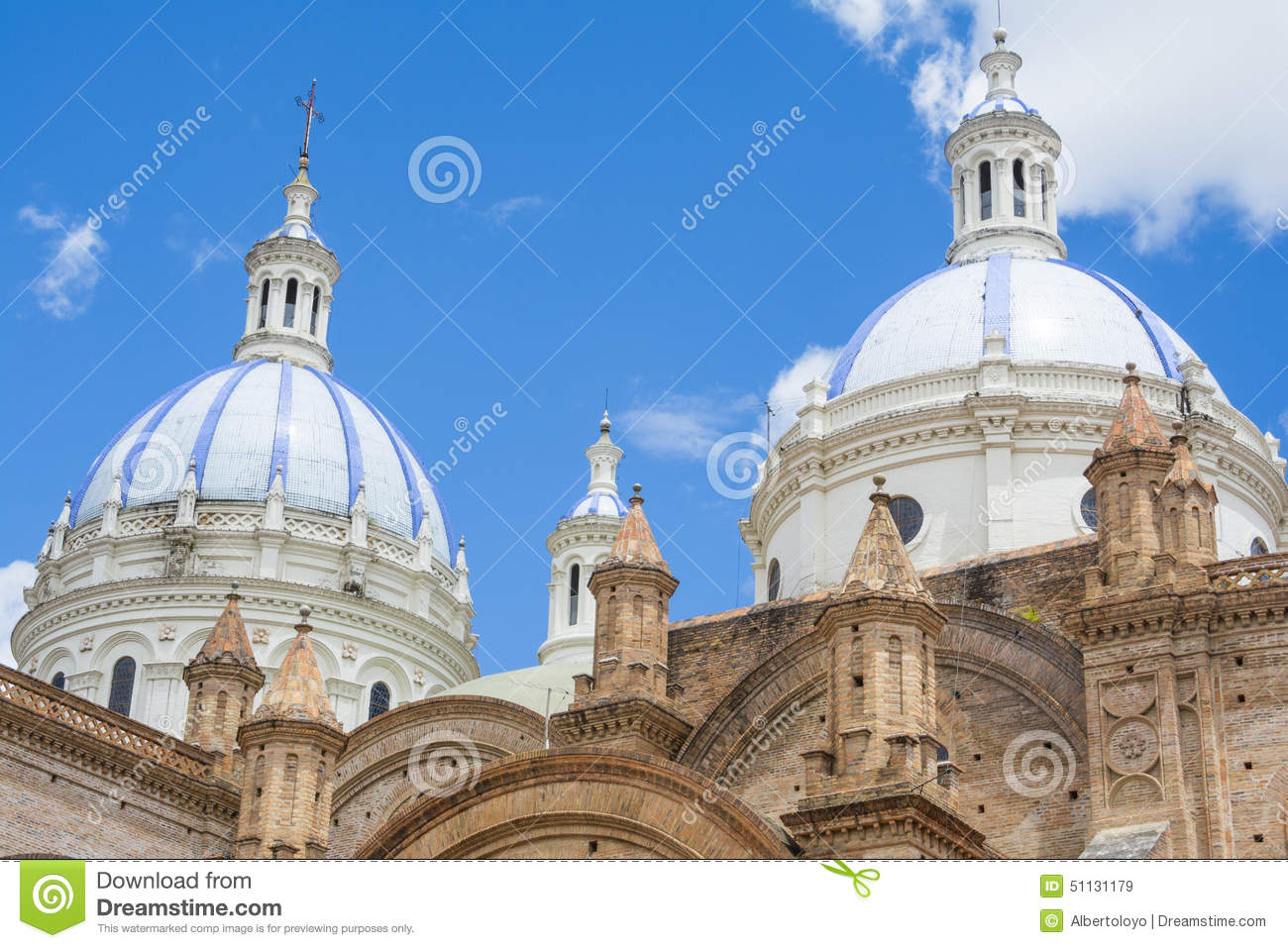 Domes of the New cathedral of Cuenca, Ecuador