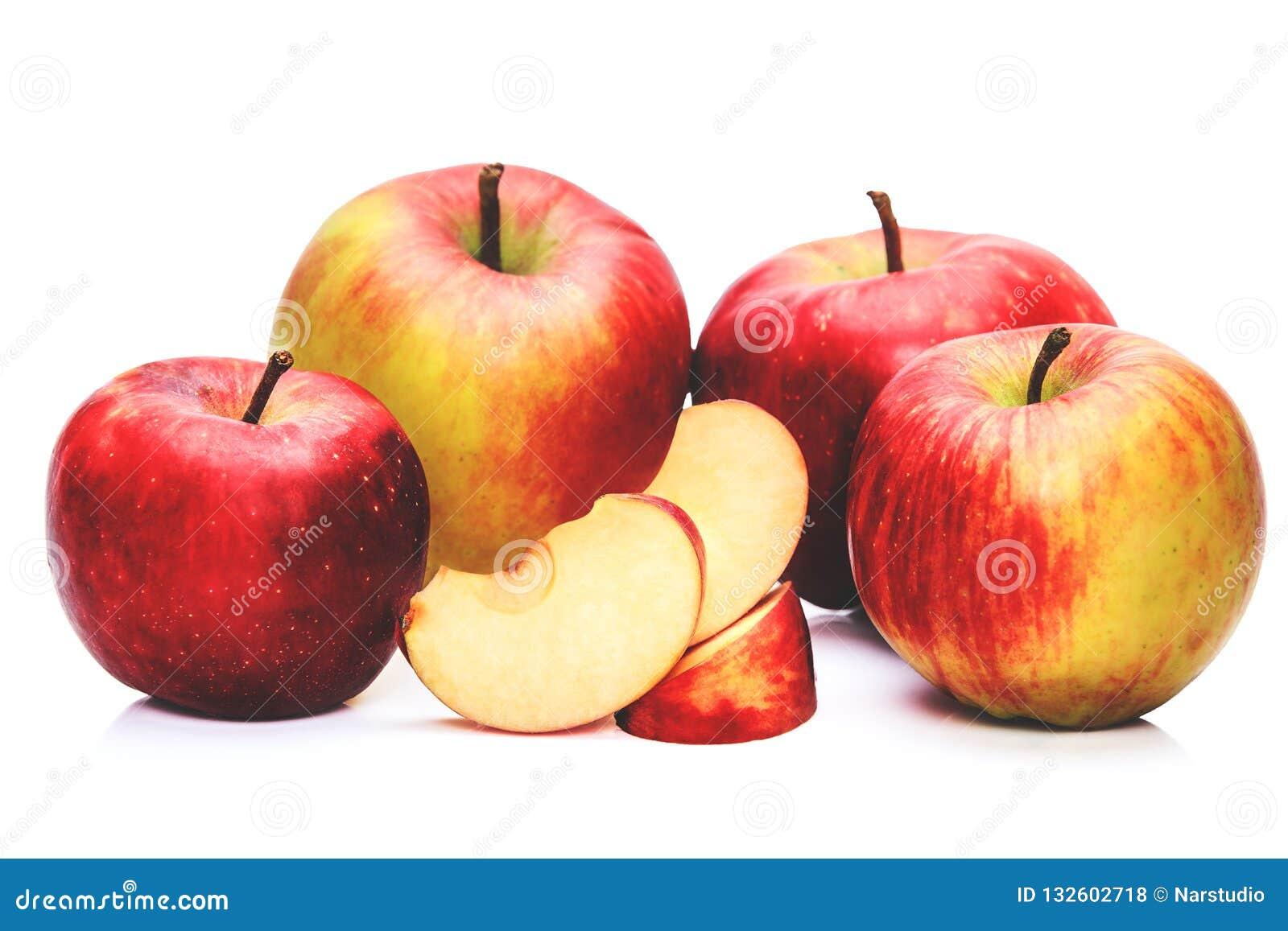 Domestic Apples Stock Photo Image Of Freshness Fiber 132602718